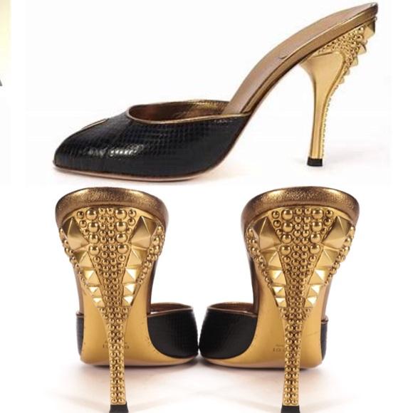 051b2340e6 Gucci Shoes | 1200 Tom Ford Era Black Python Stud Heels 7 | Poshmark